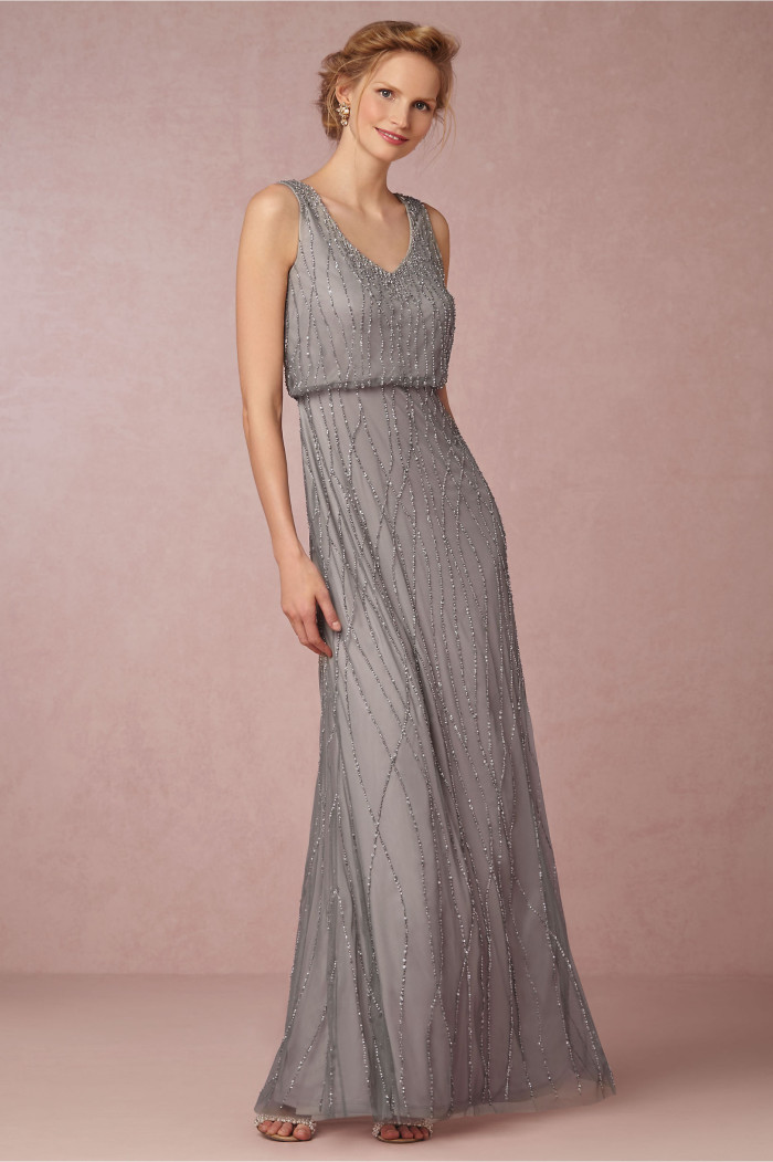 b32729948b This gown is a stunner for mothers or bridesmaids. This moody slate blue  makes it a beautifully choice for a beach chic wedding with ...