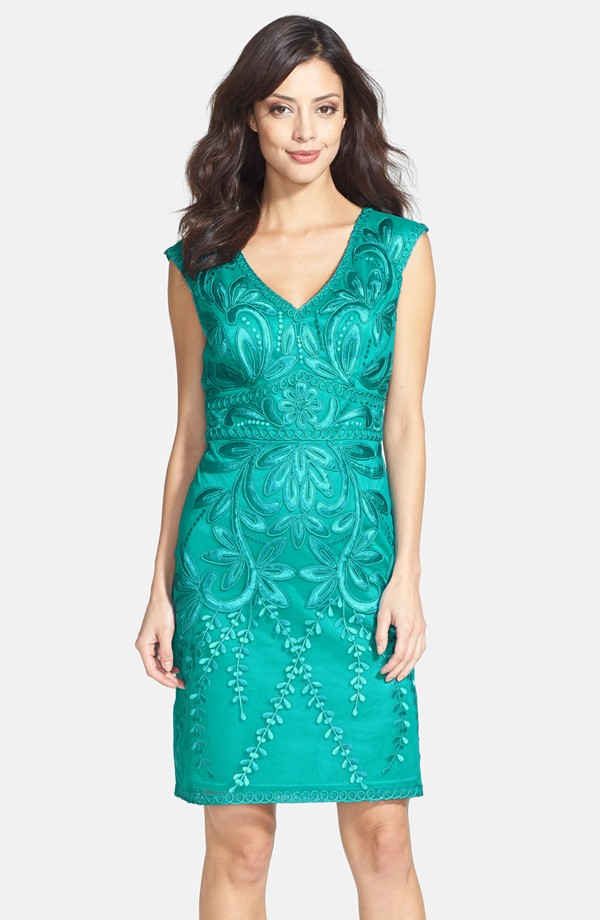 Turquoise dress for mother of the bride beachside wedding