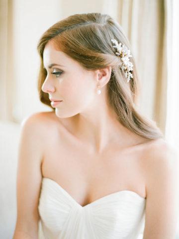 Aster bridal comb pearl bridal comb