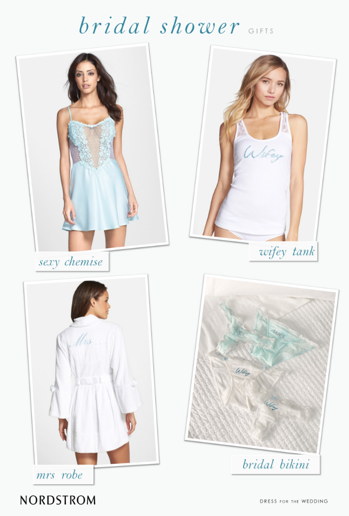 Bridal shower lingerie gifts for the bride-to-be