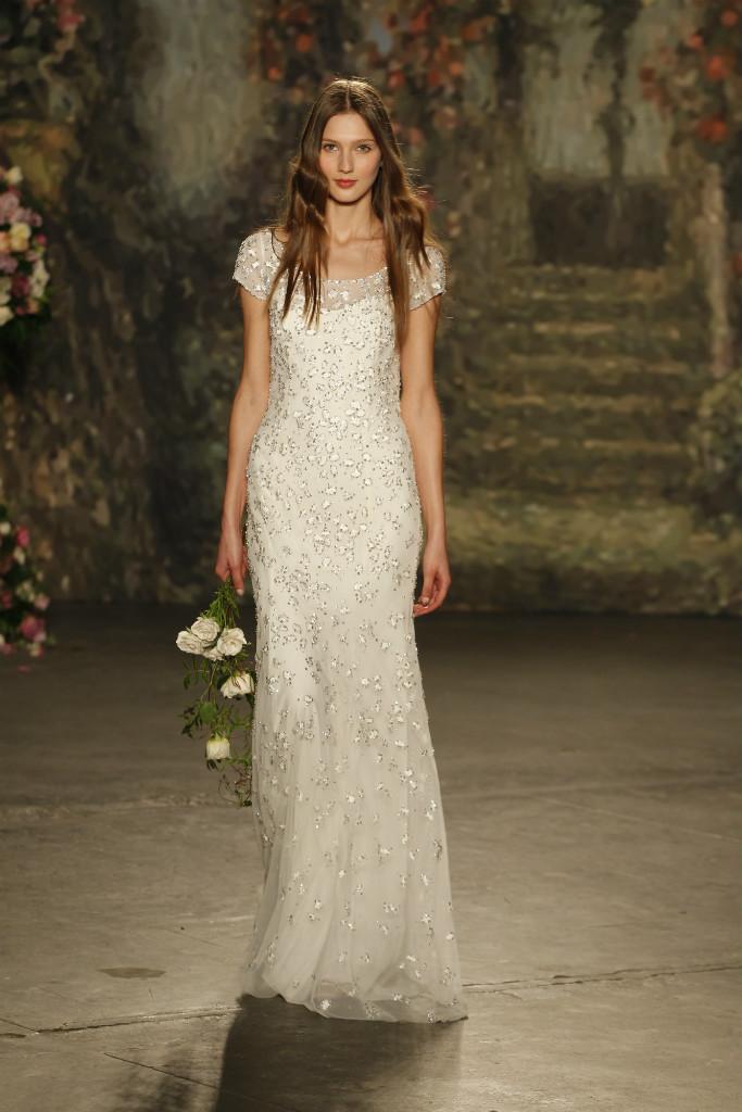 Jenny Packham Wedding Dresses for 2016 Short sleeve wedding gown
