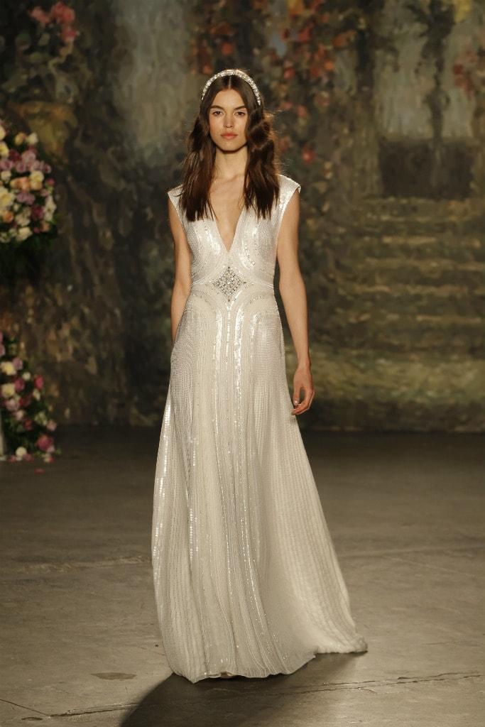 Jenny Packham 2016  Designer Wedding Dresses Beaded wedding dress with center motif