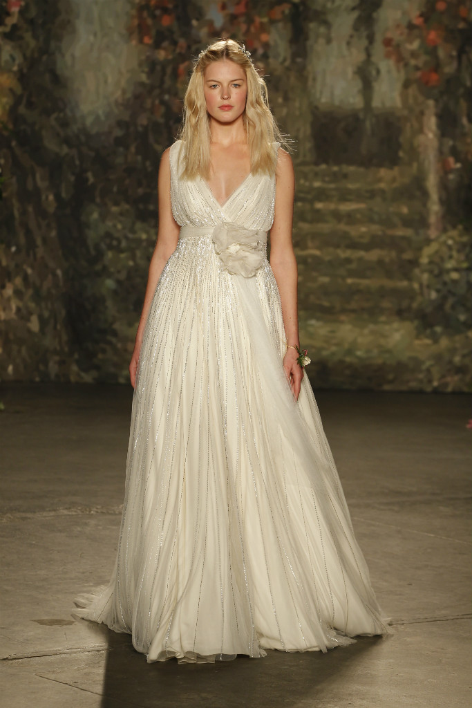Beaded organza wedding gown by Jenny Packham for 2016 Bridal Collection