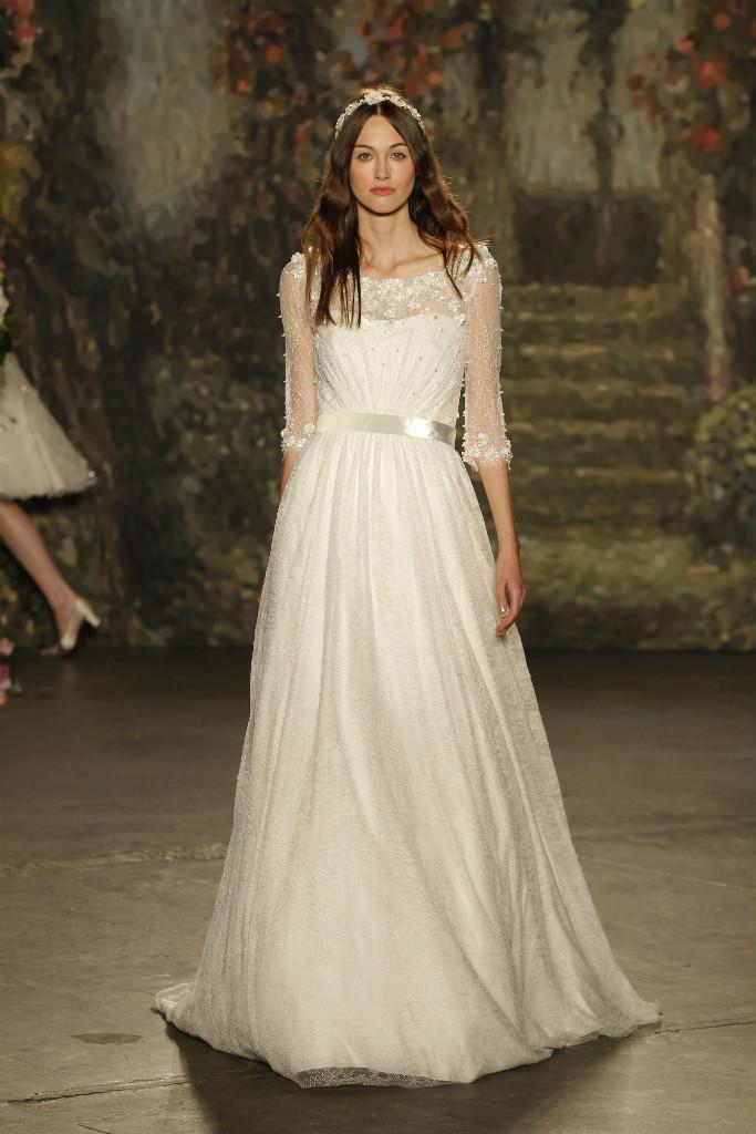 Long sleeve wedding dress by Jenny Packham Bridal 2016