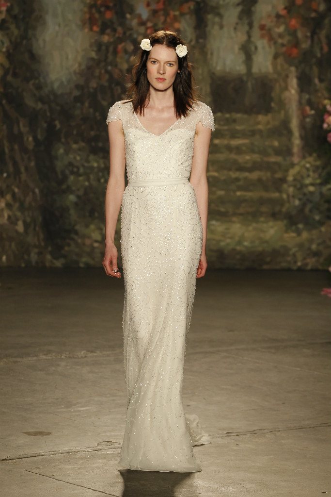 Beaded Jenny Packham Wedding Gown