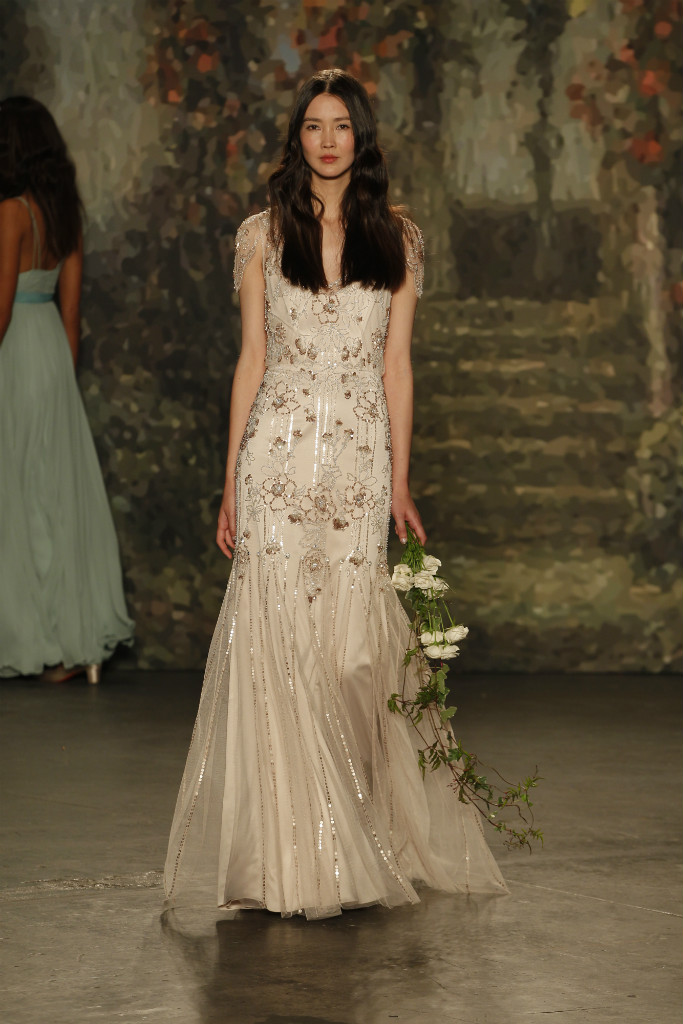 Beaded floral embellished bridal gown by Jenny Packham