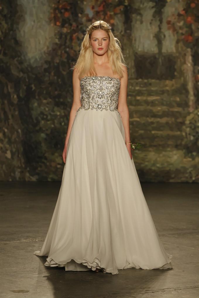 Strapless embellished wedding dress | Jenny Packham Bridal Collection