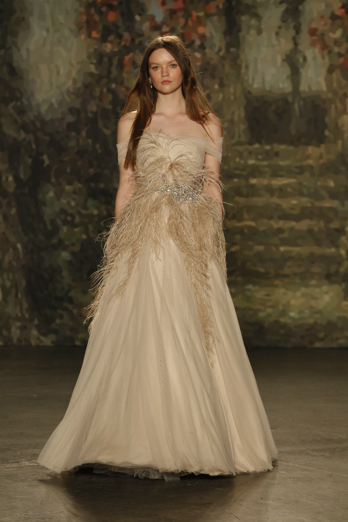 Feather wedding dress by Jenny Packham for her 2016 Bridal Collection