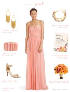 Pink Chiffon Dress for Bridesmaids