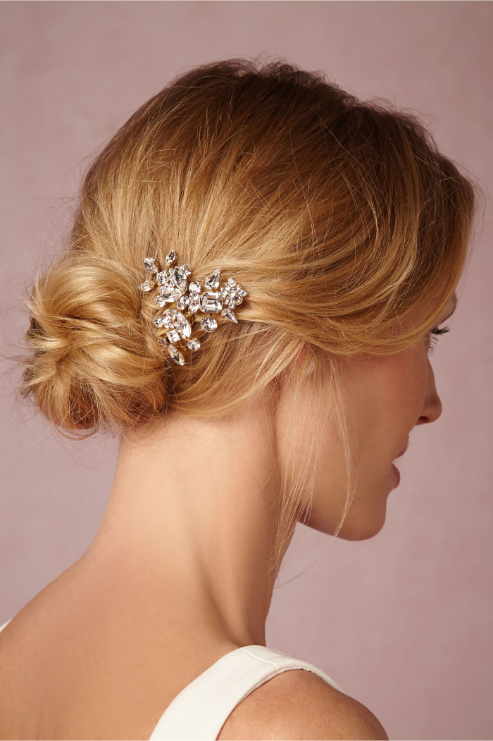 Sparkly bridal hair comb