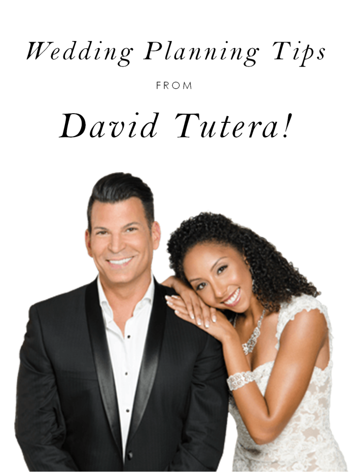 Wedding planning tips from David Tutera