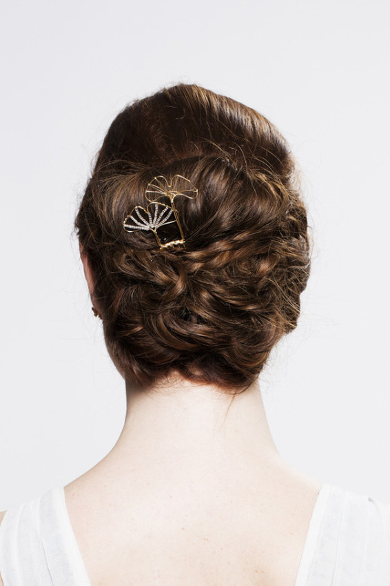 Ginkgo leaves hair pin by Untamed Brides