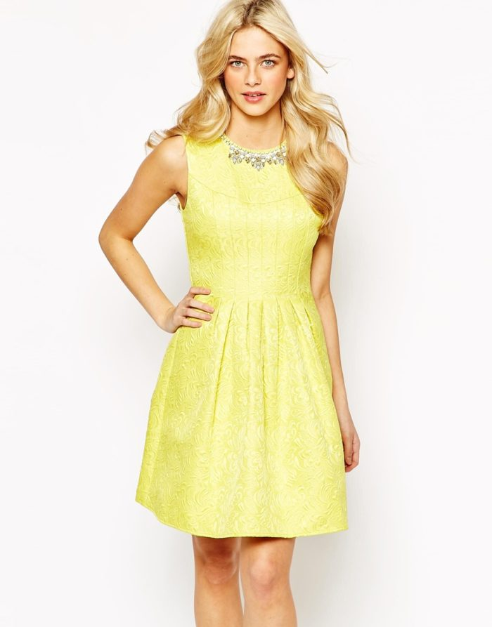 What to wear to a june wedding for Yellow dresses for wedding guests