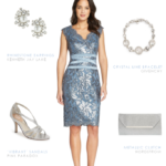 Short light blue MOB dress