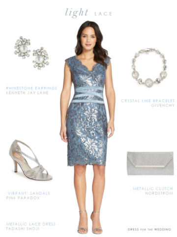 Short light blue MOB dress