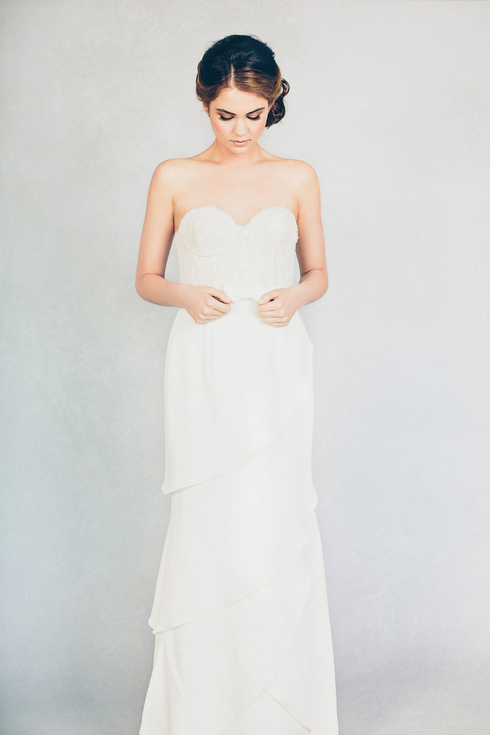 Elizabeth Stuart 'Farrah' strapless wedding gown | Photography by Jessica Withey