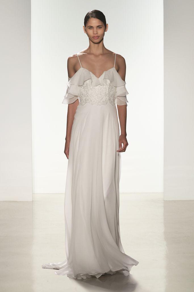 Ruffled chiffon wedding dress | 'Mabel' by Christos