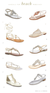 Sandals for Beach Weddings