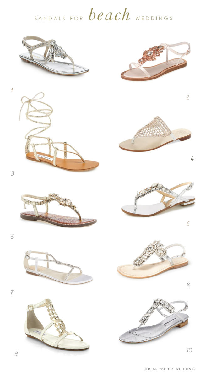 ac45fa05ca5c The Best Shoes for Beach Weddings