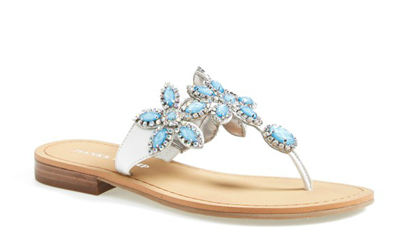 blue wedding sandals
