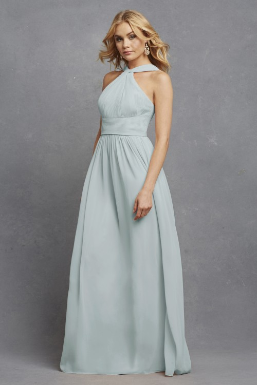 Romantic halter style bridesmaid dress | Hayley by Donna Morgan