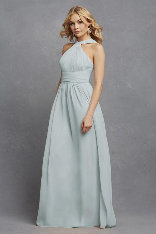 Romantic halter style bridesmaid dress | Hayley by Donna Morgan