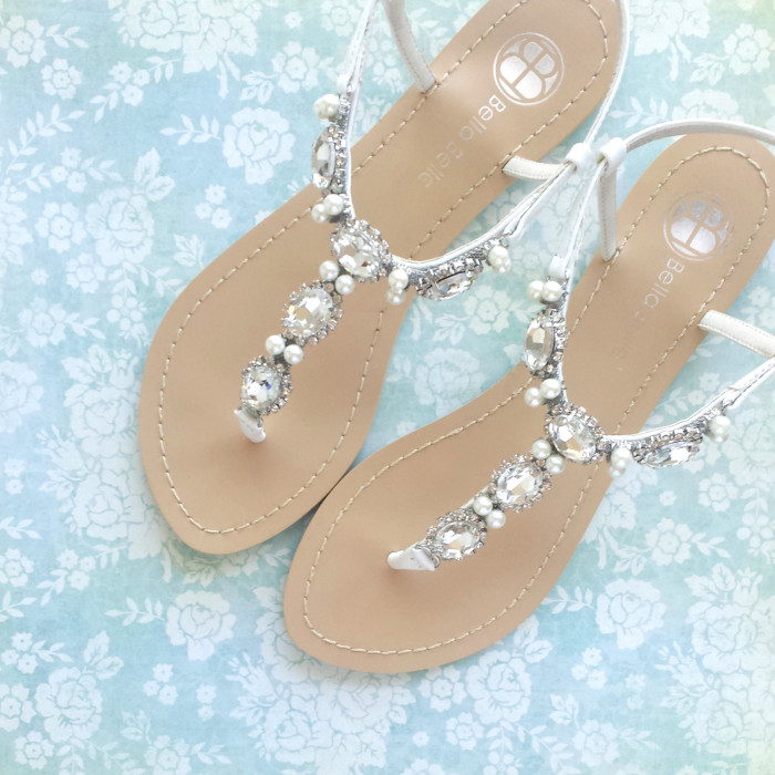 Sandals for beach weddings wedding sandals by bellabelle shoe on etsy junglespirit Images
