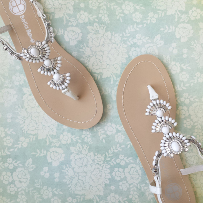 Something Blue Sandals for Beach Weddings from BellaBelleShoe on Etsy