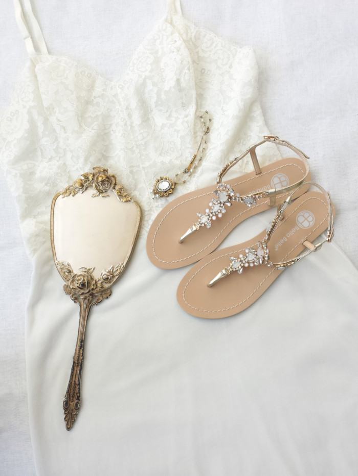 Beach wedding sandals from BellaBelleShoes
