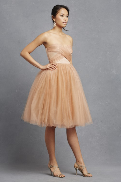 Kenna short tulle bridesmaid dress from Donna Morgan