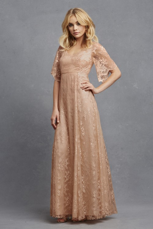 Bohemian style lace bridesmaid dress | 'Madeline' by Donna Morgan