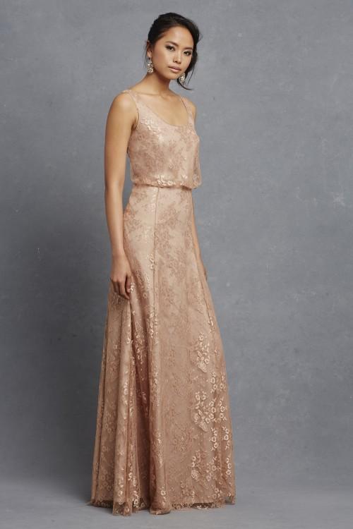 Beaded lace bridesmaid dress 'Natalya' by Donna Morgan