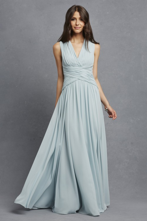 Flowy bridesmaid dress | Paloma in Bella Blue by Donna Morgan