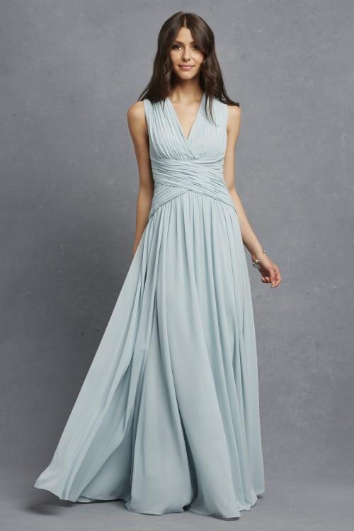 Flowy bridesmaid dress | Paloma in Bella Blue by Donna Morgan