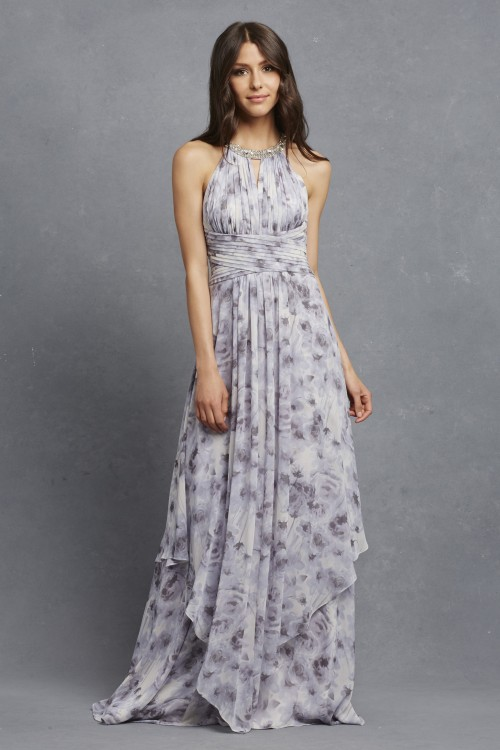 Floral bridesmaid dress | 'Siena' by Donna Morgan Serenity Collection