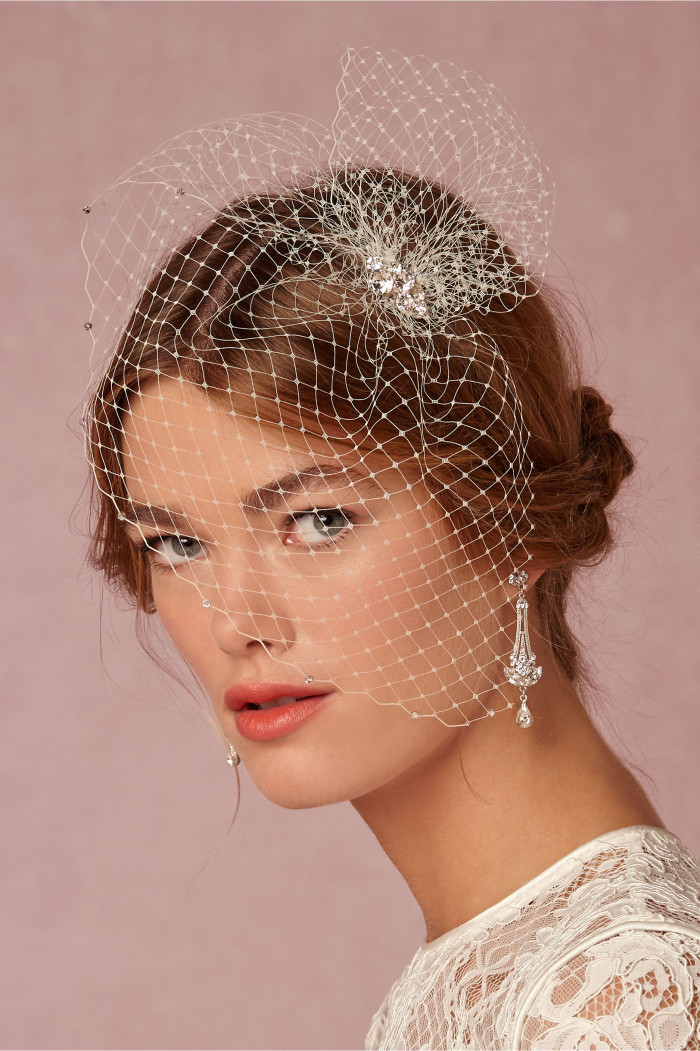 Short birdcage veil Everlyesse Veil from BHLDN