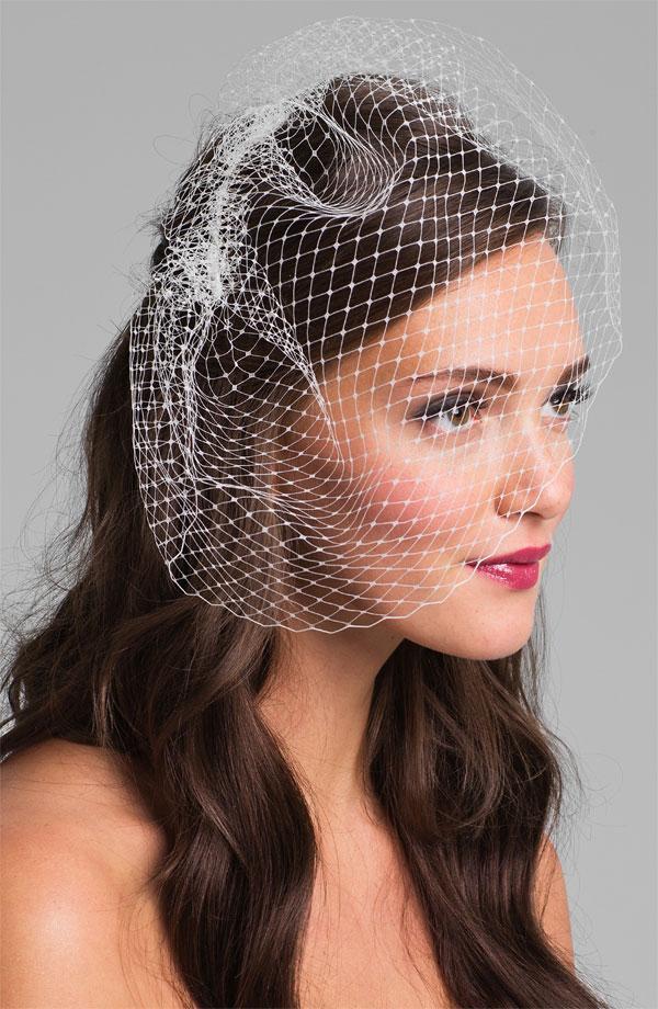 French net birdcage veil
