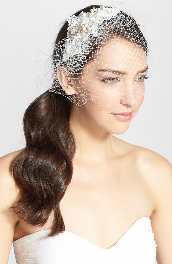 Pearl comb birdcage veil by Nina from Nordstrom