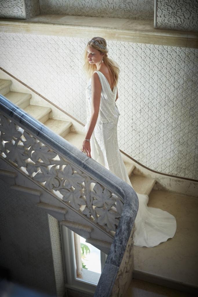 1920s style drop waist wedding gown   Arabella from BHLDN