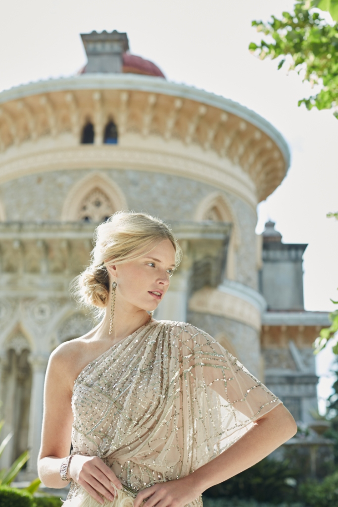 Gold sequin gown | BHLDN