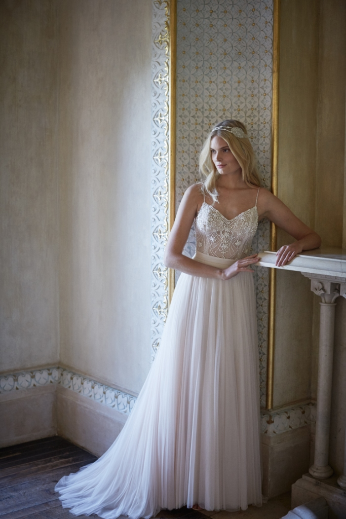 Ella body suit and Amora skirt make this beautiful wedding look | BHLDN