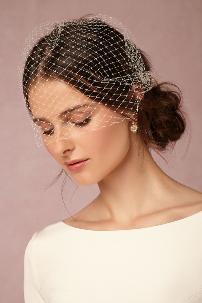 Birdcage wedding veils | Elodie Veil from BHLDN