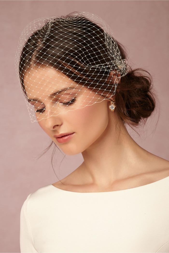 Birdcage wedding veils | Elodie Veil from BHLDN