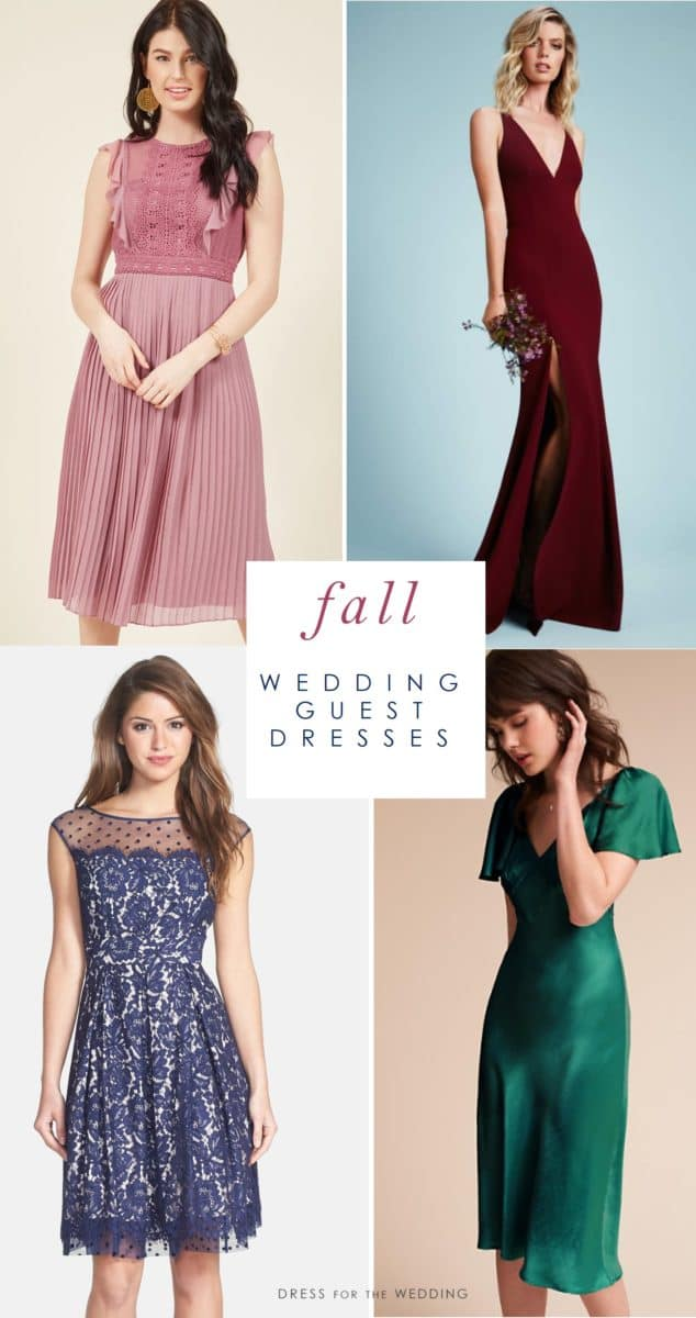 Fall wedding guest dresses what to wear to a fall wedding for Guest of wedding dresses fall