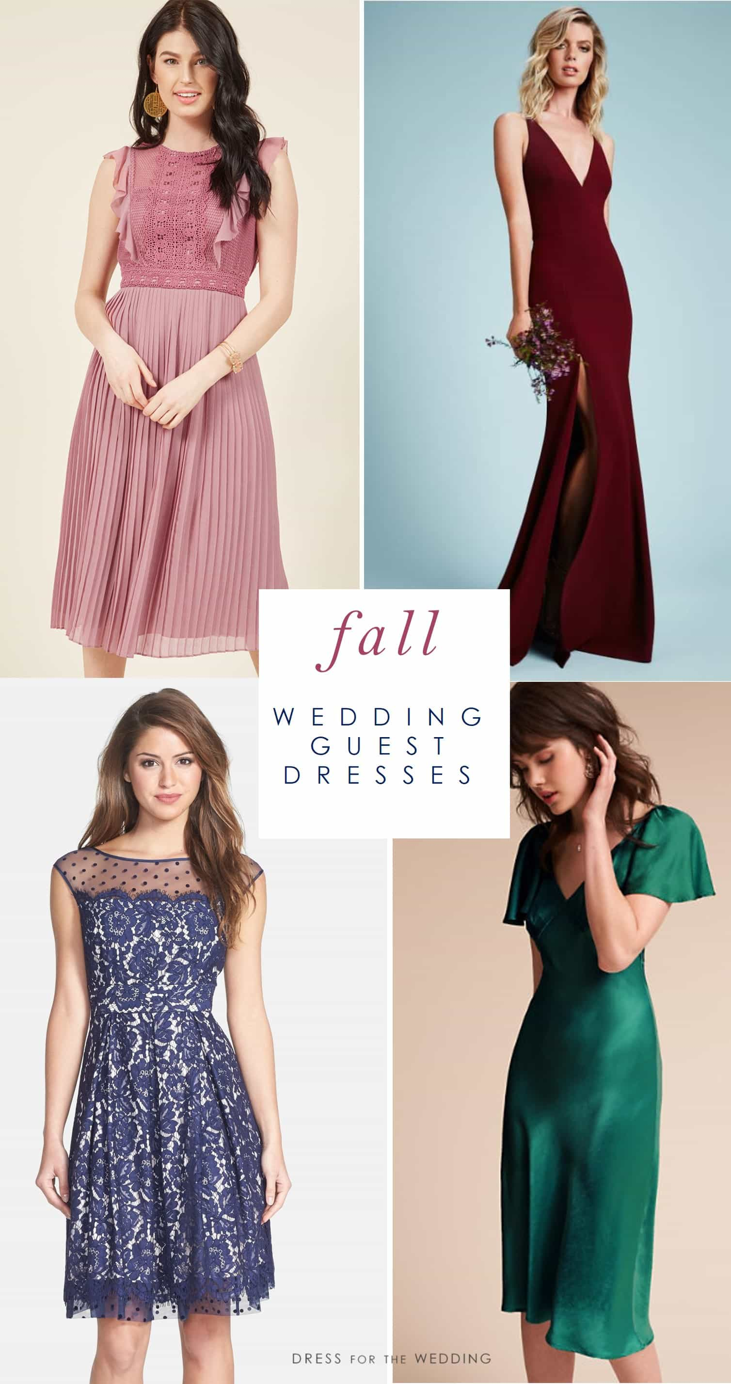 Fall wedding guest dresses what to wear to a fall wedding for Dresses for afternoon wedding