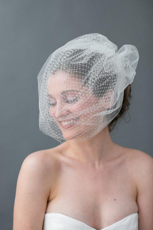 'Margo' veil by Jaclyn Jordan New York