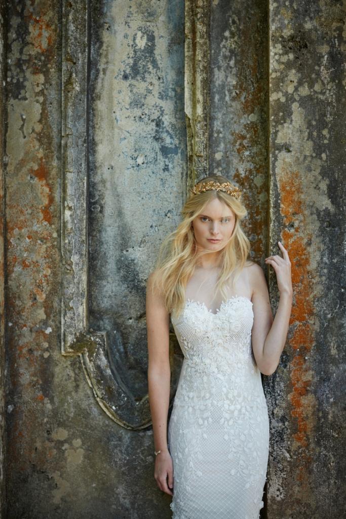 Illusion neckline wedding dress   Ashton from BHLDN