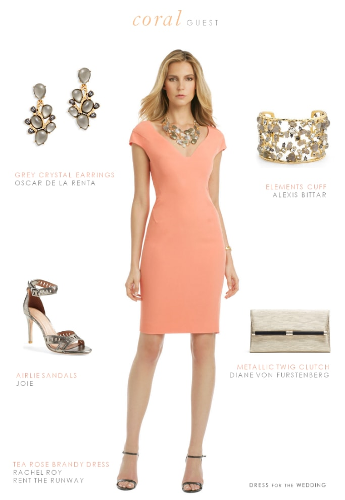 coral cocktail dress3