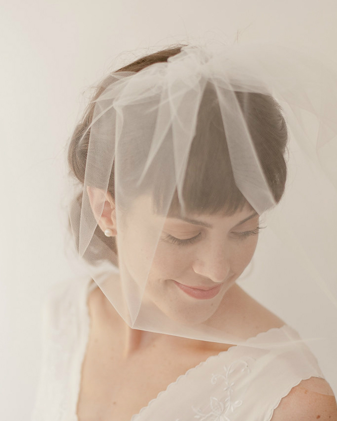 Blusher veil by Erica Elizabeth Designs on Etsy