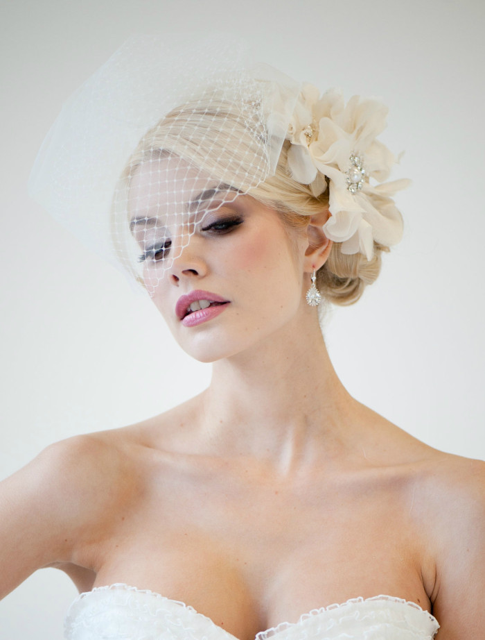 Double Birdcage Veil by PowderBlueBijoux